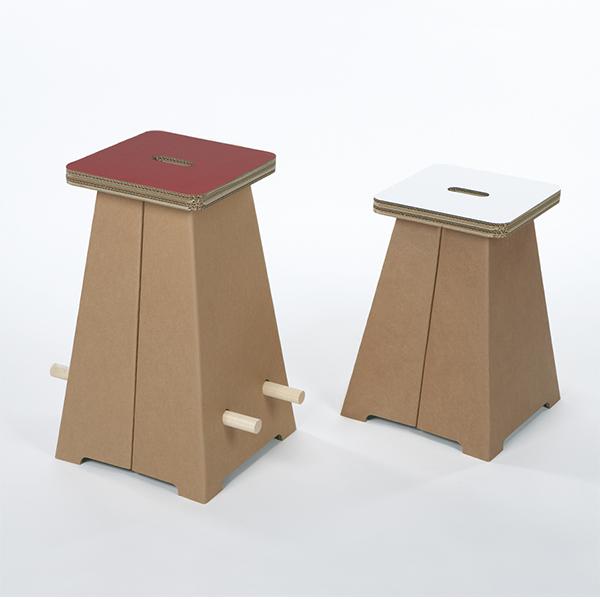 Mobiliers en carton - PUFFO ALTO