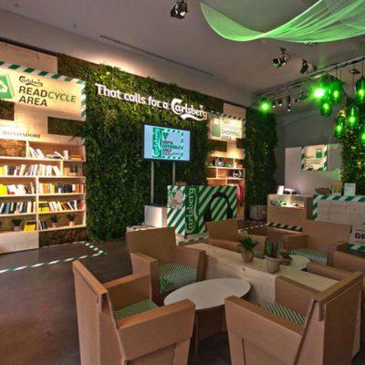 Mobiliers en carton - Carlsberg Drink Different AREA (Aménagement temporaire-7 juin 2011 – 30 juillet 2011)