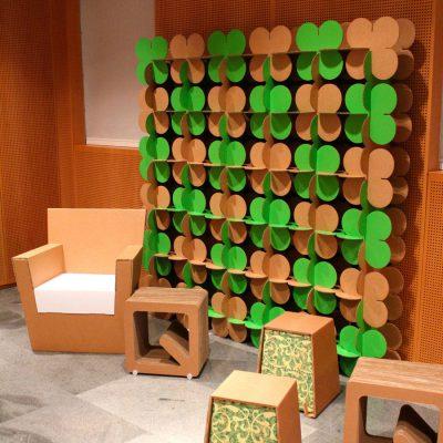 Mobiliers en carton - SETTE GREEN per CORRIERE DELLA SERA