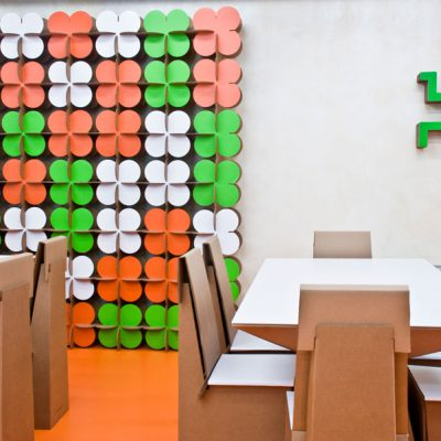 Mobiliers en carton - Aménagement XFactor