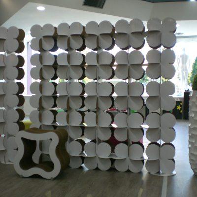 Mobiliers en carton - Aménagement Boutique Abc Moda