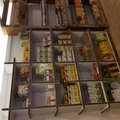 Mobiliers en carton - Aménagement Boutique Cbio