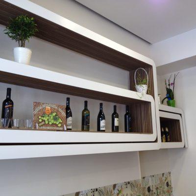 Mobiliers en carton - Aménagement Restaurant BcomeBio